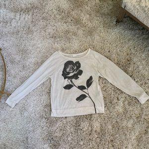 2 for 9$ F21 semi-sheer rose print tee